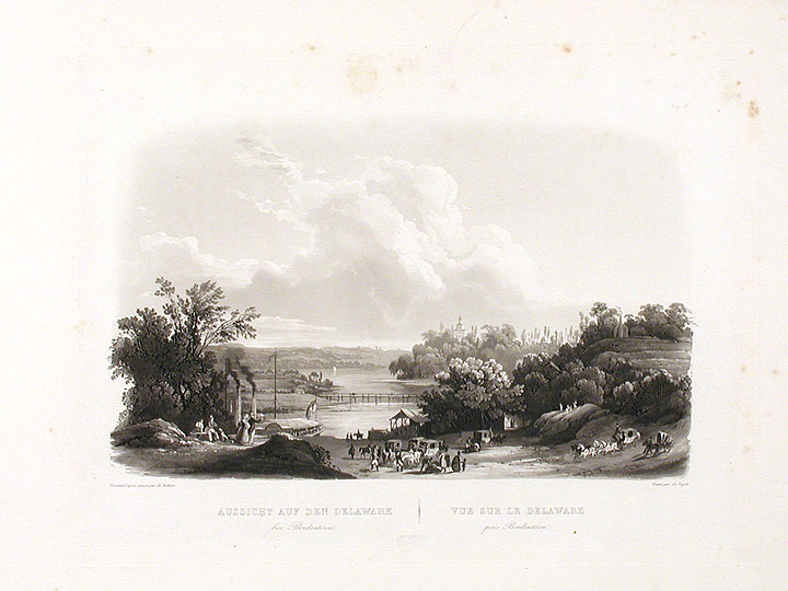 [View on the Delaware, near Bordentown. Karl BODMER.