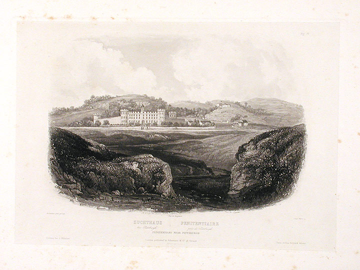 Penitentiary near Pittsburgh. Karl BODMER.