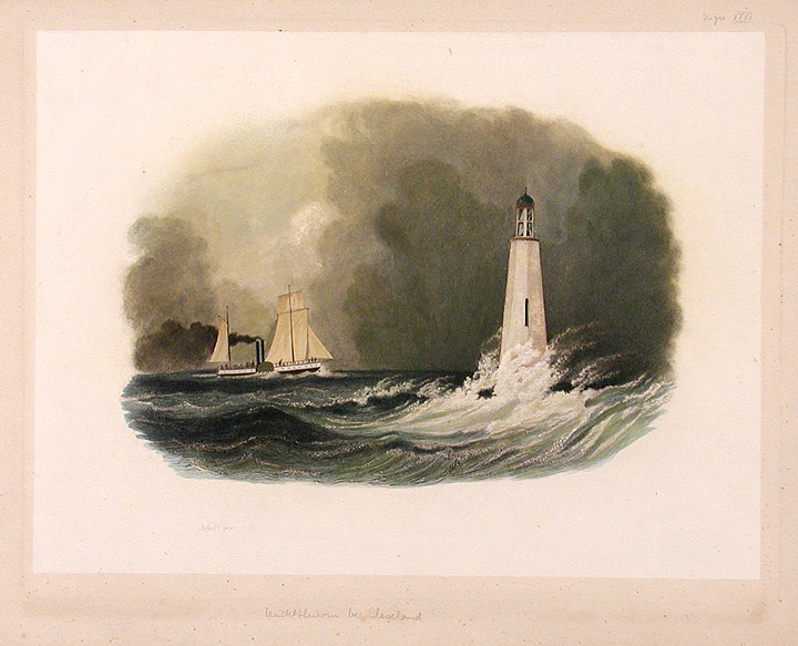 [Cleveland Lighthouse on Lake Erie. Karl BODMER.