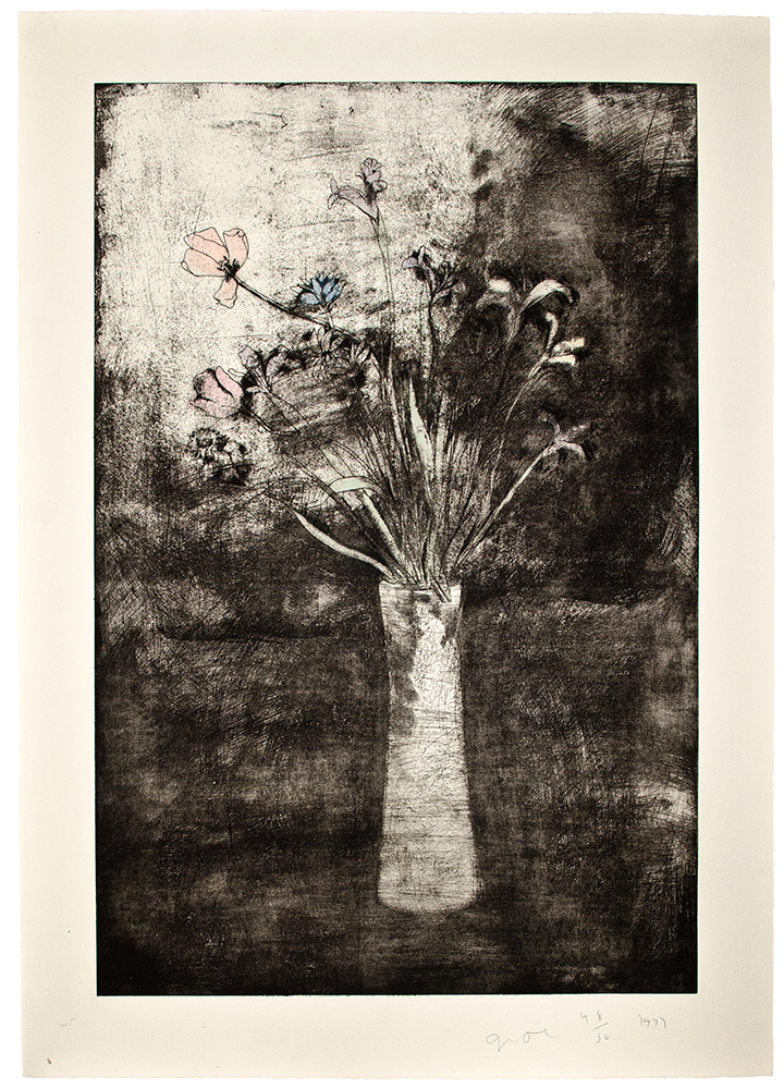 Hand Colored Flowers. Jim DINE.