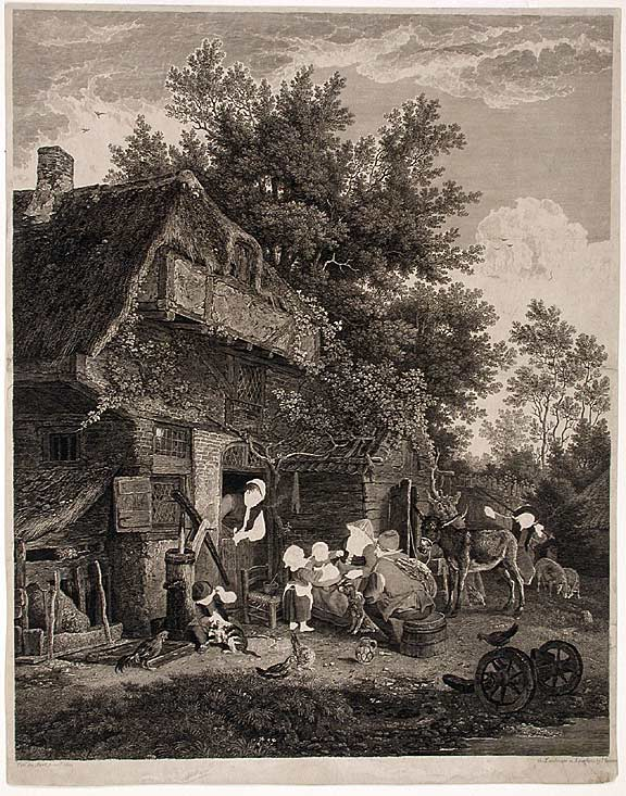 [Working Proof of a Country Cottage]. John BROWNE, after a., Cor. Du SART.