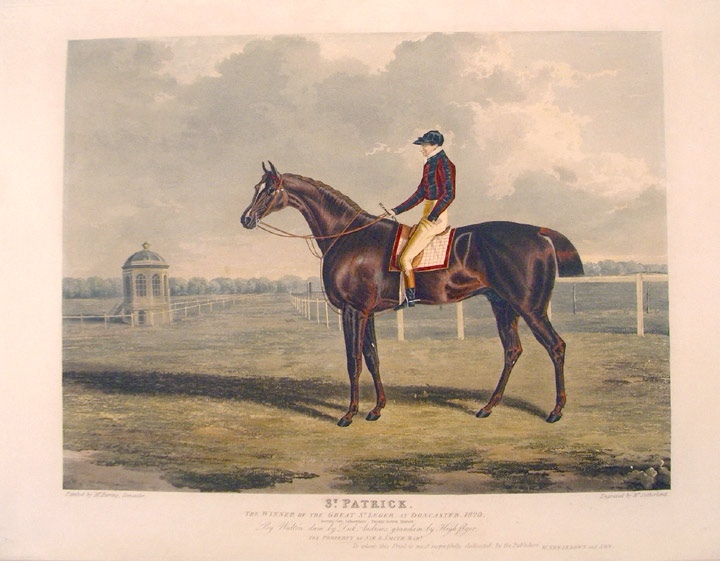 St. Patrick, the Winner of the Great St. Leger, at Doncaster, 1820. John Frederick HERRING, Thomas SUTHERLAND.
