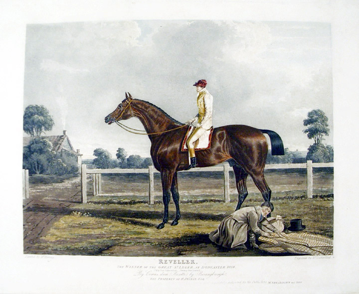 Reveller, the Winner of the Great St. Leger, at Doncaster, 1818. John Frederick HERRING, Thomas SUTHERLAND.