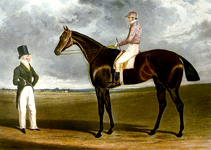 Birmingham, the Winner of the Great St. Leger Stakes at Doncaster, 1830 68 Subscribers - 28 Started. By Filho da Puta, dam Miss Craigie by Orville. The Property of Mr. Beardsworth, To whom this Print by Permission is most respectfully dedicated by the Publishers, J.F. Herring and S. & J. Fuller. John Frederick HERRING, R. G. REEVE.