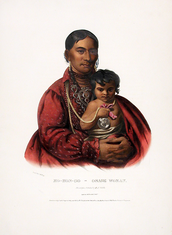 Mo-Hon-Go, an Osage Woman. Thomas L. MCKENNEY, James HALL.