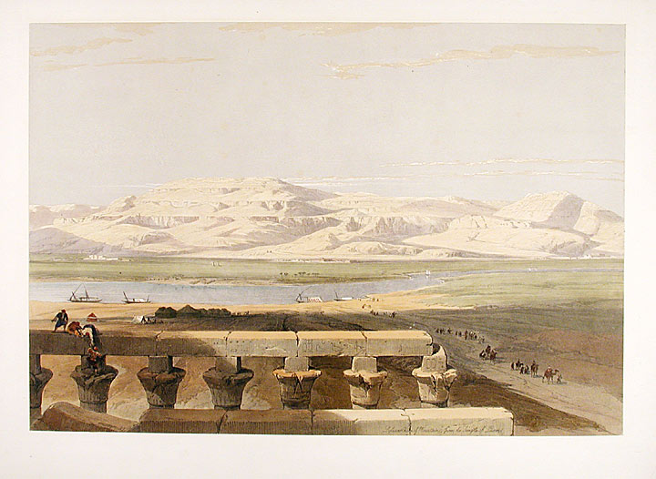 Libyan Chain of Mountains, from the Temple of Luxor. After David ROBERTS.