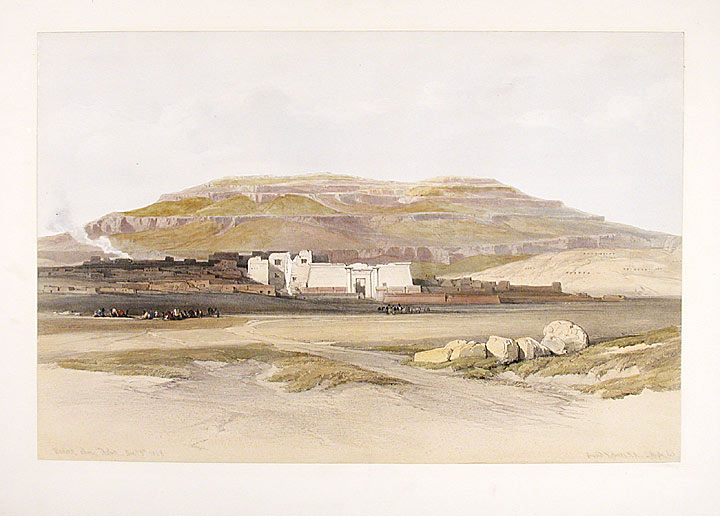 Medinet abou, Thebes. After David ROBERTS.