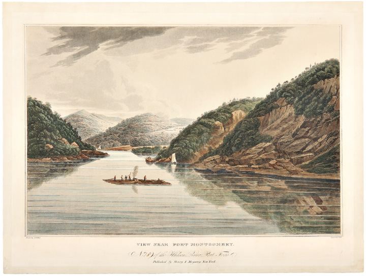 View Near Fort Montgomery. No. 18 of the Hudson River Port Folio. John HILL, William Guy Wall, engraver.