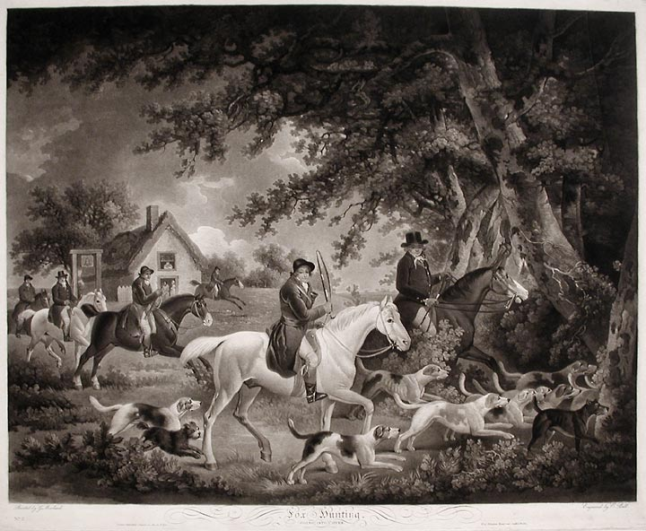 Fox Hunting, Going into Cover. George MORLAND, Edward BELL.