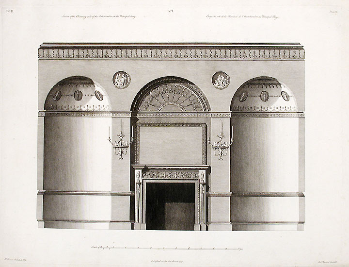 Section of the Chimneyside of the Antichamber in the Principal Story. After Robert ADAM, James ADAM, d.1794.