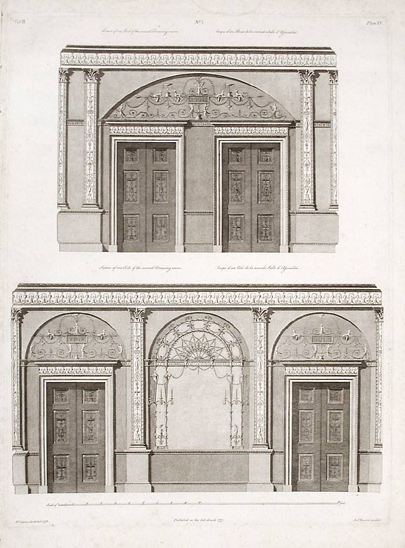 Section of One end and One Side of the Second Withdrawing-room. After Robert ADAM, James ADAM, d.1794.