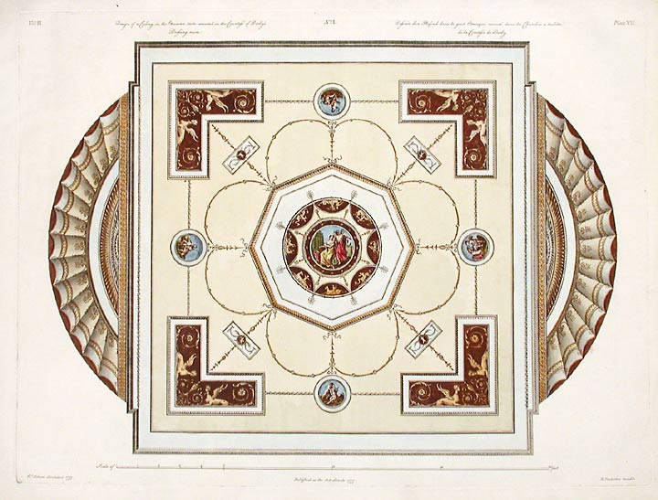 Ceiling, in the Etruscan Taste, Executed in the Countess of Derby's Dressing Room. After Robert ADAM, James ADAM, d.1794.