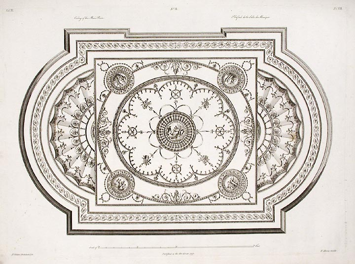 Ceiling of the Music Room. After Robert ADAM, James ADAM, d.1794.