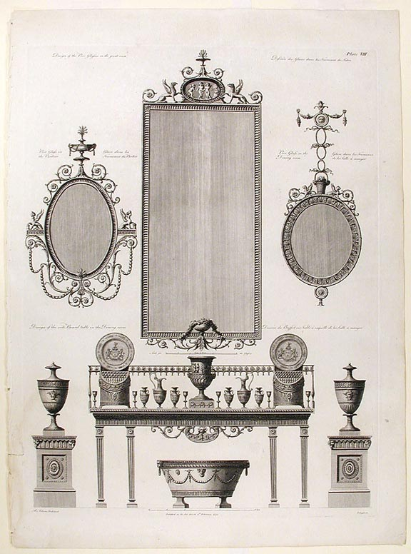 Design for furnishings. After Robert ADAM.
