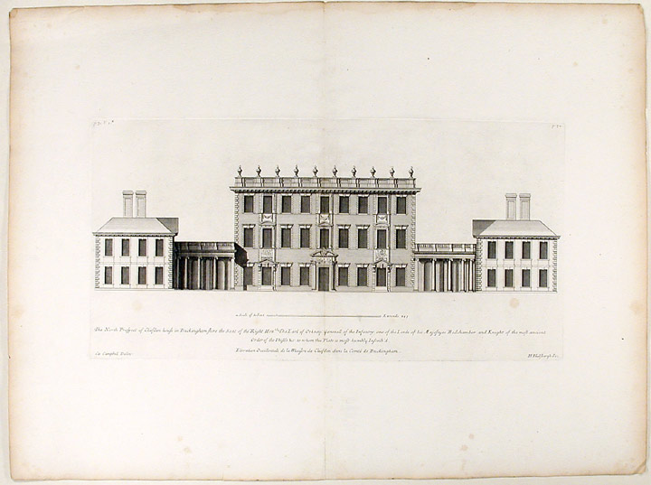 The North Prospect of Cliefden House in Buckinghamshire the Seat of the Right Hon:ble The Earl of Orkney. Colen CAMPBELL, H. HULSBERGH, 1676 - 1729.