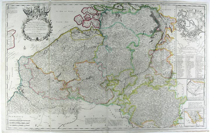 Les Provinces Des Pays-Bas Catholiques ou A Most Exact Map of Flanders or Austrian Netherlands & c. Herman MOLL, fl.