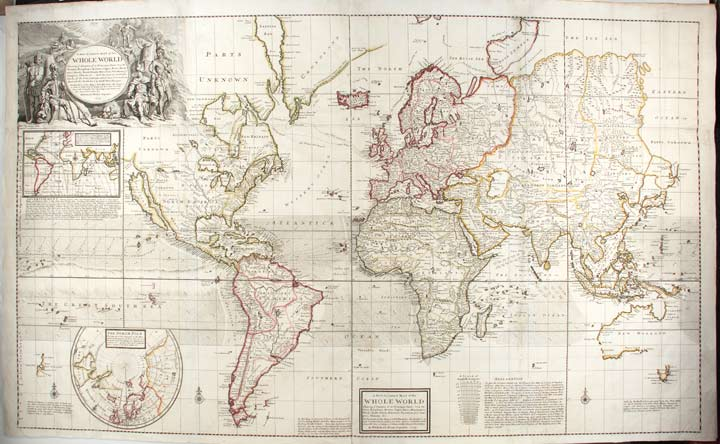 A New and Correct Map of the Whole World, Shewing ye Situation of Its Principal Parts. Herman MOLL.