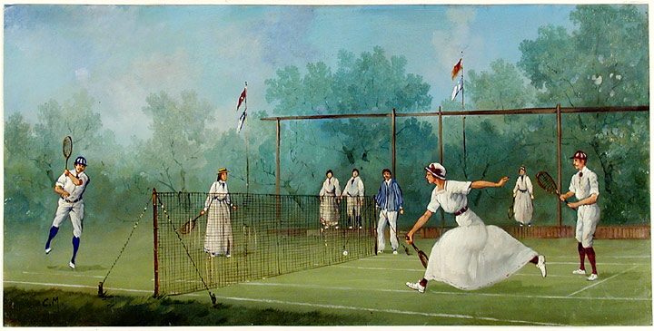 Edwardian Tennis Match: Mixed Doubles. Marco CERI.