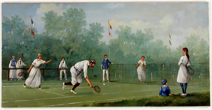 Edwardian Tennis Match. Marco CERI.