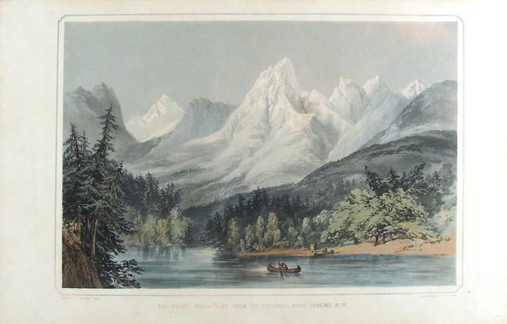 The Rocky Mountains from the Columbia River looking N.W. After General Sir Henry James WARRE.