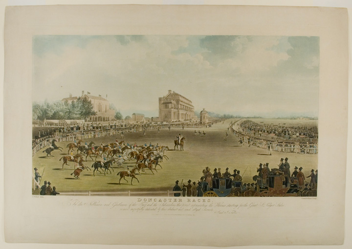 [St. Leger The Start] Doncaster Races. To the Noblemen and Gentlemen of the Turf, and the Subscribers this print representing the Horses starting for the Great St. Ledger [sic.] Stakes, is most respectfully dedicated by their obedient and most obliged Servants, S. and J. Fuller. After James POLLARD.