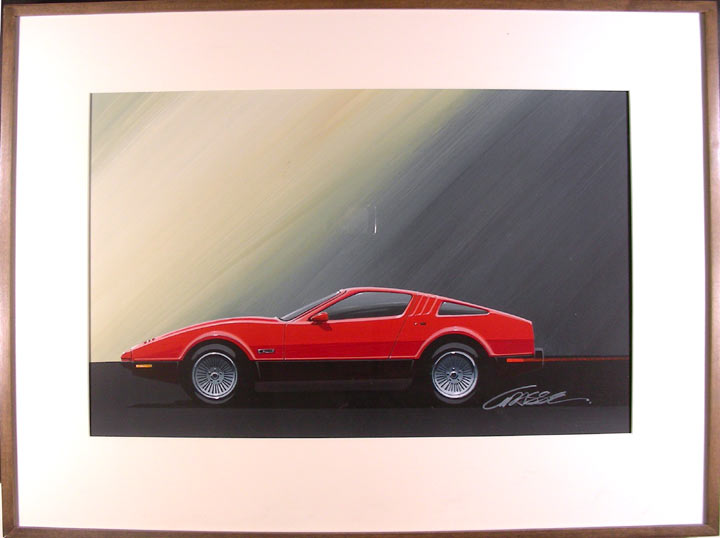 Bricklin conceptual car design. Herb GRASSE.
