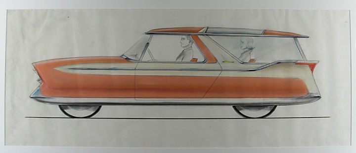 Designs for a Nash Metropolitan Station Wagon. Richard ARBIB, attributed to.