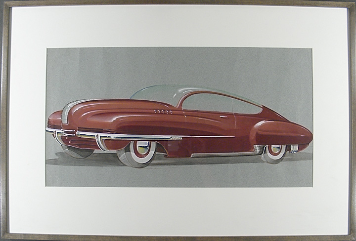 """Buick Glass-Top Torpedo Concept Art"" UNKNOWN."