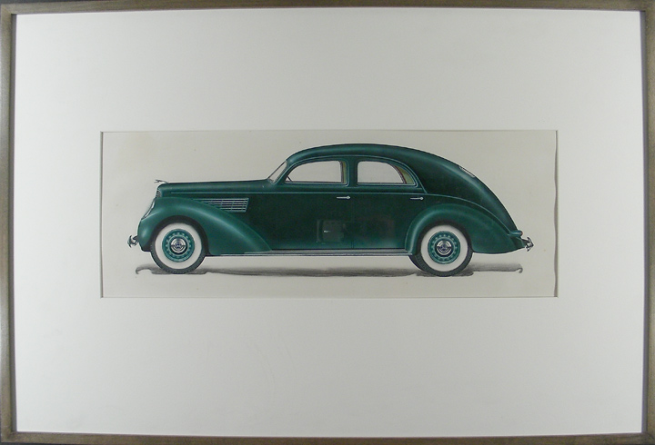 1930's concept car design. Otto HOFFMANN, attributed to.