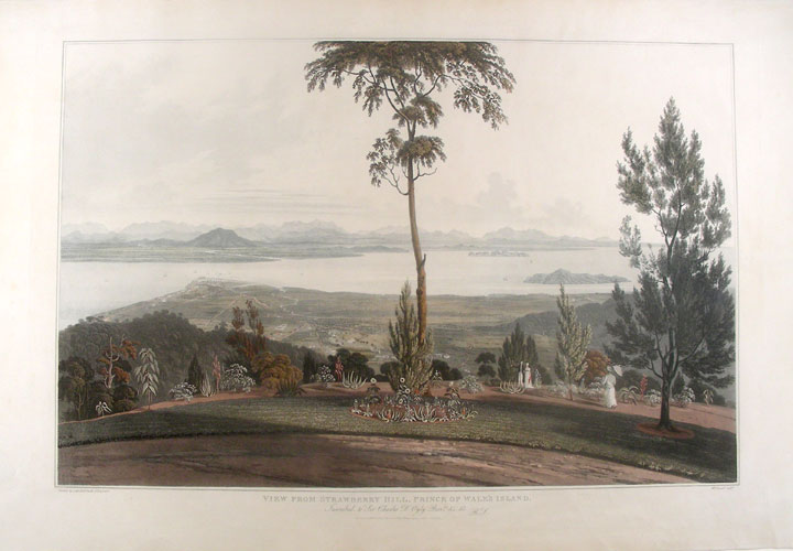 [Malaysia] View from Strawberry Hill, Prince of Wale's Island. William . - after Captain Robert SMITH DANIELL, engraver.