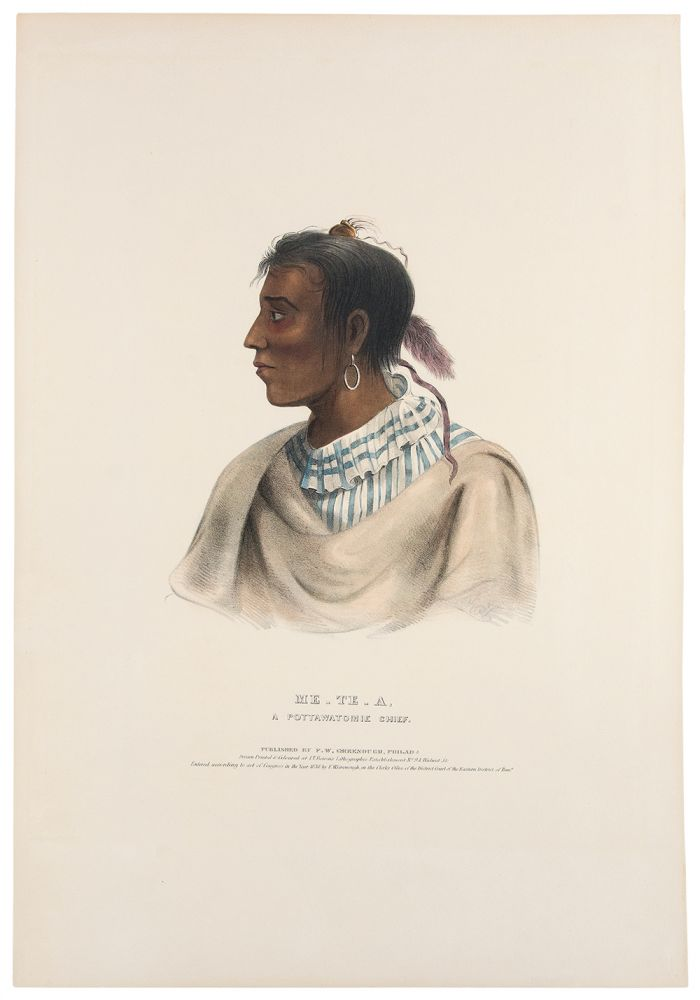 Me-Te-A, a Pottawatomie Chief. Thomas L. MCKENNEY, James HALL.