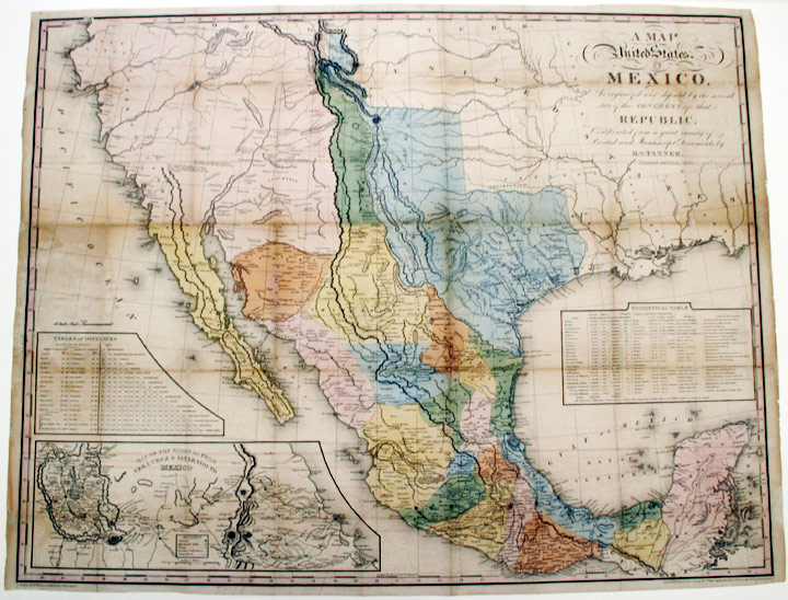 A Map of the United States of Mexico, as organized and defined by the several acts of Congress of the Republic ... Second edition, 1846. H. S. TANNER, enry, chenck.