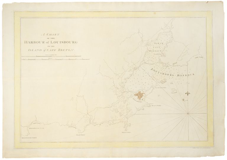 A Chart of the Harbour of Louisbourg in the Island of Cape Breton. J. F. W. DES BARRES.