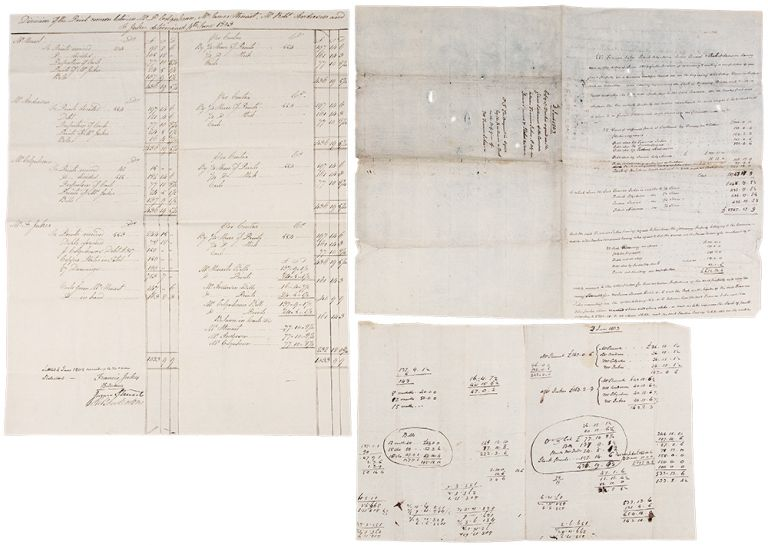 [A group of three documents concerning a joint business venture 'heretofore carried on in the engraving and sale of 'Views in Scotland and in Calcutta']. Francis JUKES, Patrick COLQUHOUN, James STEUART, Robert ANDERSON.