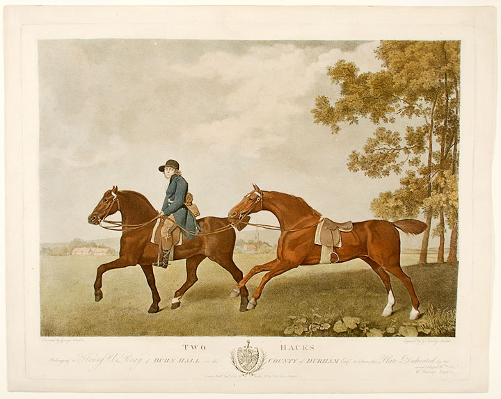 Two Hacks Belonging to Henry U. Reay of Burn Hall in the County of Durham Esq... [and] Two Hunters Belonging to Herny U. Reay of Burn Hall in the County of Durham Esq. George STUBBS, George Townly STUBBS.