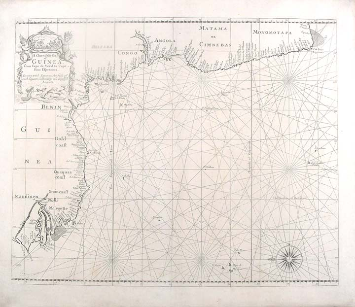 A Chart of the Coast of Guinea from Cape de Verde to Cape Bona Esperança. John THORNTON, Samuel, fl.
