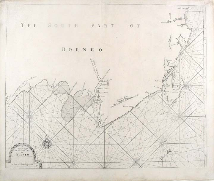 A Large Draught of the South Part of Borneo. John THORNTON, Samuel, fl.