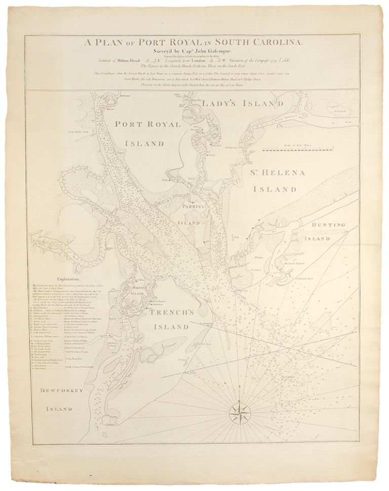 A Plan of Port Royal in South Carolina. Survey'd by Capn. John Gascoigne. John GASCOIGNE, William FADEN.