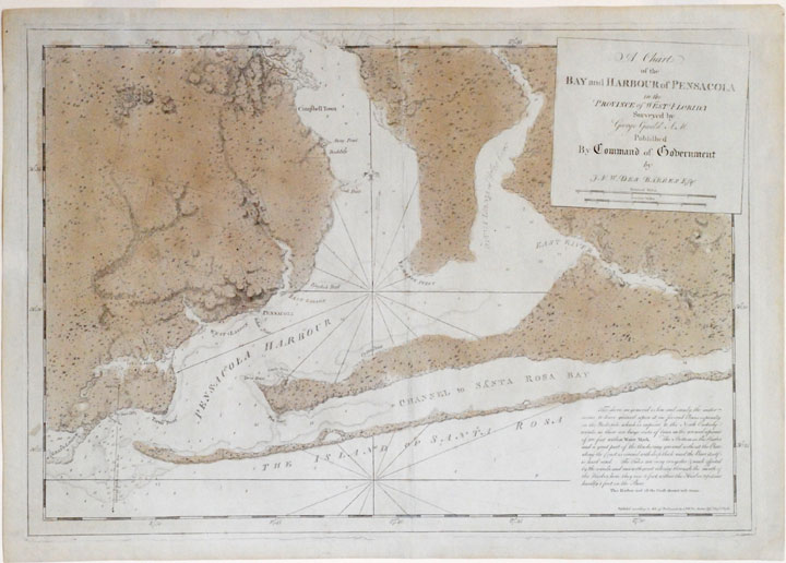 A chart of the bay and harbour of Pensacola in the province of West Florida surveyed by George Gauld A.M. J. F. W. DES BARRES.