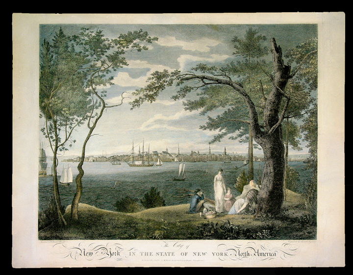 The City of New York in the State of New York, North America. William . - Samuel SEYMOUR BIRCH, artist, engraver.