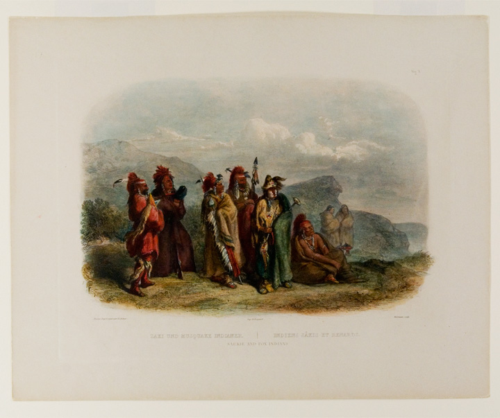 Saukie and Fox Indians. Karl BODMER.