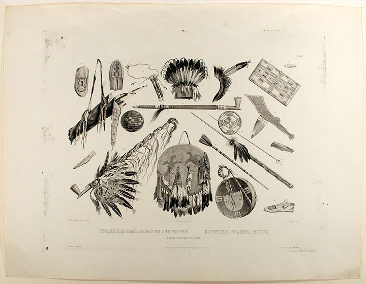 Indian Utensils and Arms. Karl BODMER.