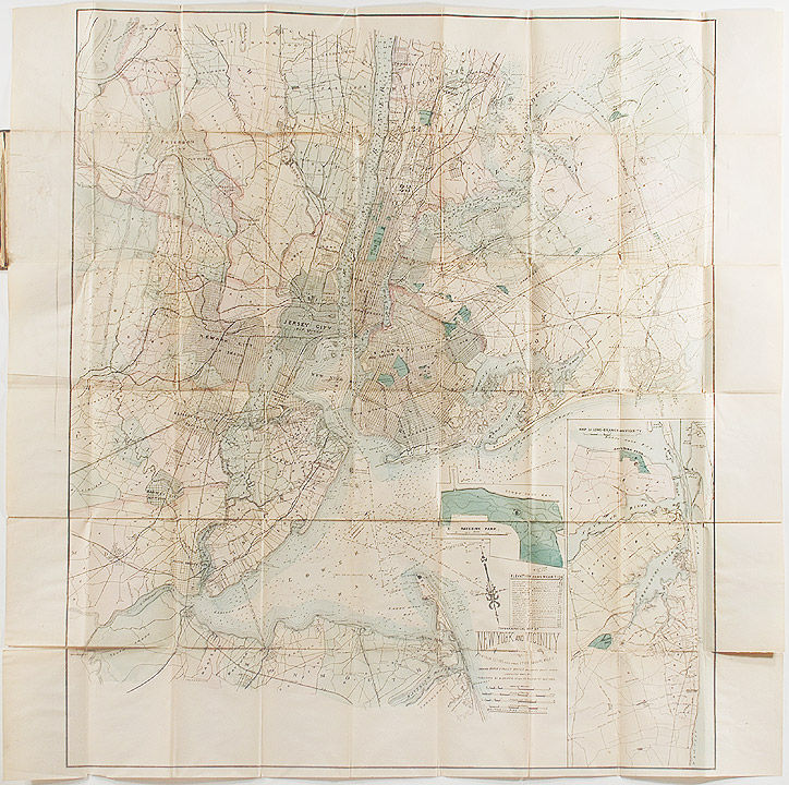 Topographical Map of New York and Vicinity Embracing Fifteen Cities and Above 1700 Square Miles. Matthew DRIPPS, publisher.