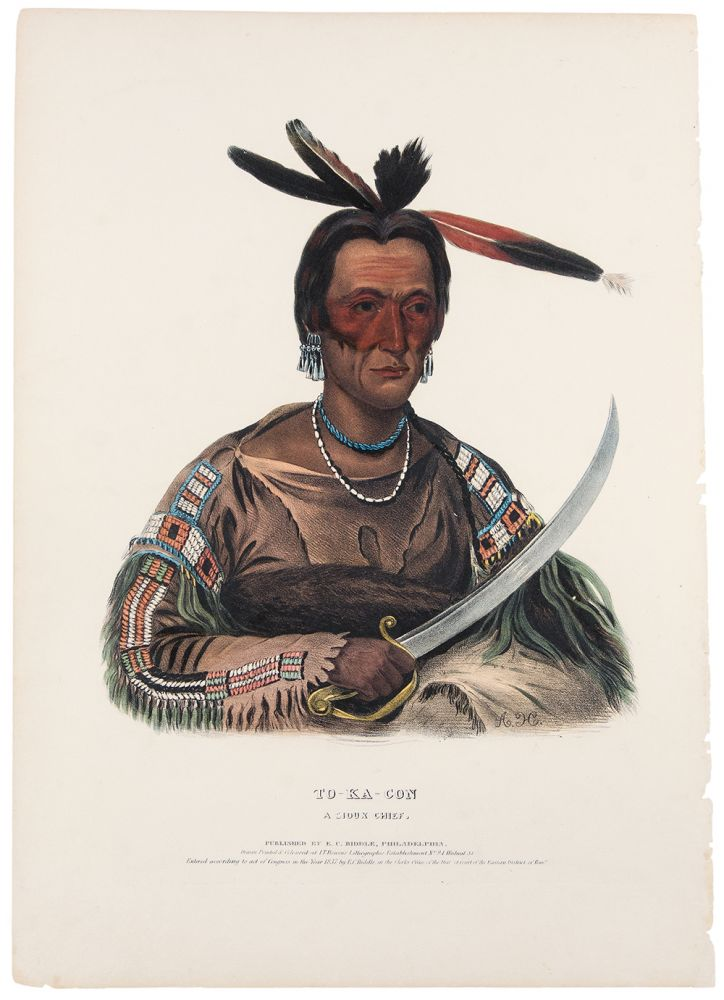 To-Ka-Con [To-Ka Cou], A Sioux Chief. Thomas L. MCKENNEY, James HALL.