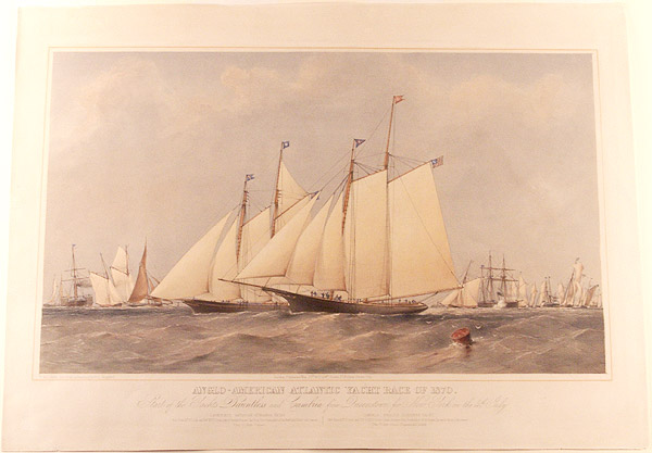Anglo-American Atlantic yacht race of 1870. Start of the Yachts Dauntless and Cambria from Queenstown for New York on the 4th. July. Thomas Goldsworth after R. L. STOPFORD DUTTON, - 1891.