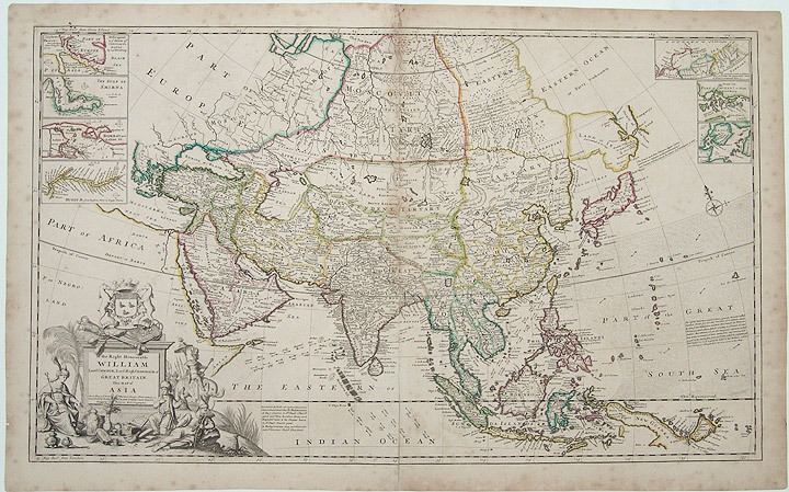 [Asia] To the Right Honourable William Lord Cowper, Lord High Chancellor of Great Britain, this Map of Asia. Herman MOLL.