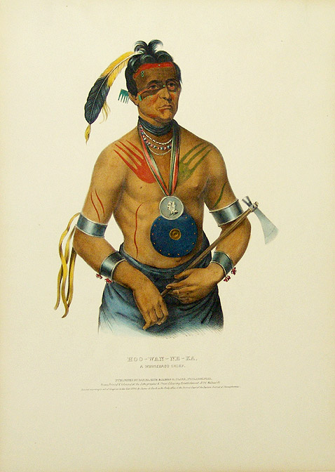 Hoo-Wan-Ne-Ka, a Winnebago Chief. Thomas L. MCKENNEY, James HALL.
