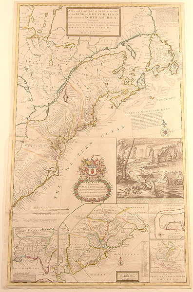 A New and Exact Map of the Dominions of the King of Great Britain on ye continent of North America containing Newfoundland, New Scotland, New England, New York, New Jersey, Pensilvania [sic.] Maryland, Virginia and Carolina. According to the newest and most exact observations. Herman MOLL, fl.
