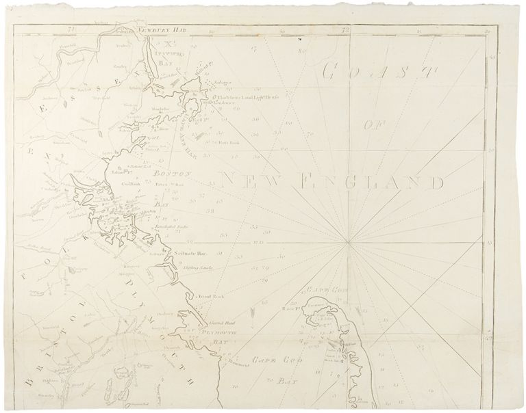 Chart from New York to Timber Island including Nantucket Shoals from the latest Surveys. John NORMAN, Osgood CARLETON.
