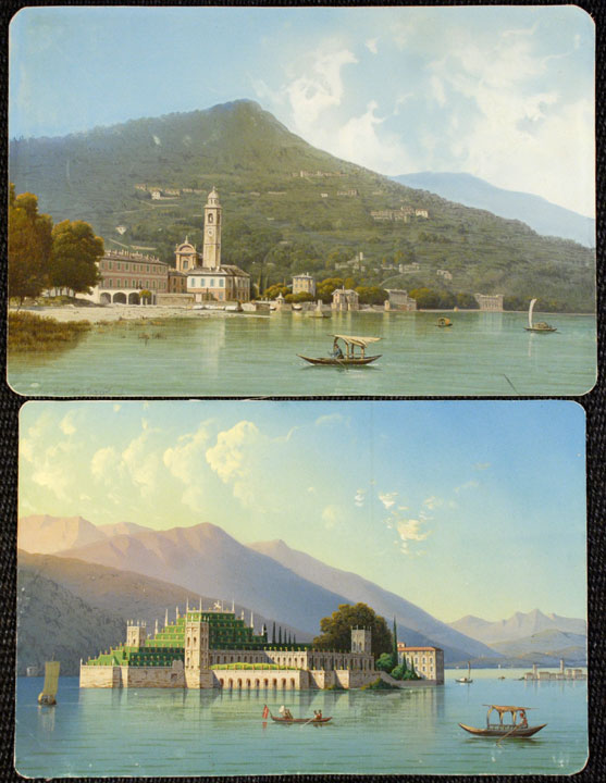 [Isola Bella , Lago Maggiore; and the Bell Tower of Bellagio, Lago Como]. Luigi BARTEZZATI.